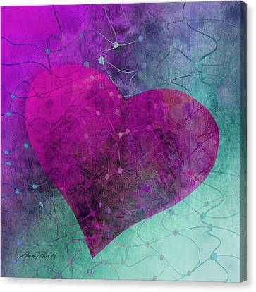 Heart Connections Two Canvas Print by Ann Powell