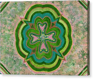 Heart Flower Canvas Print