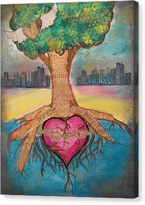 Heart For The City Canvas Print by Debbie Hornsby