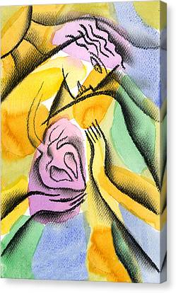 Frustration Canvas Print - Heart by Leon Zernitsky