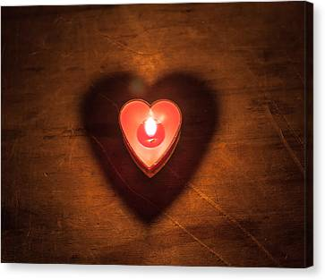 Canvas Print featuring the photograph Heart Light by Aaron Aldrich
