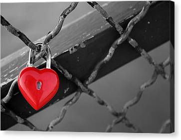 Heart Lock Canvas Print