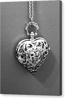 Canvas Print featuring the photograph Heart Locket  by Alohi Fujimoto