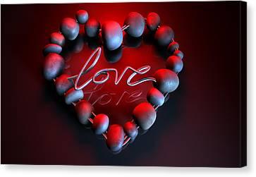 Heart Love Stones Canvas Print