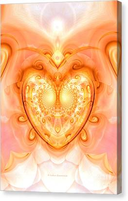 Heart Meditation Canvas Print by Indira Emmerlich