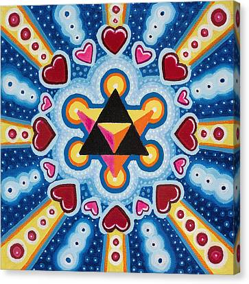 Heart Merkaba Canvas Print by Christopher Sheehan