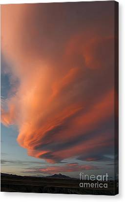 Heart Mountain Cirrus Sunset-signed Canvas Print