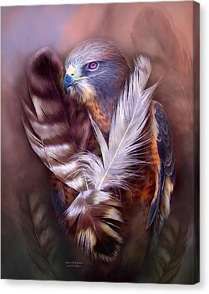 Heart Of A Hawk Canvas Print by Carol Cavalaris