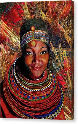 Heart Of Africa Canvas Print by Michael Durst