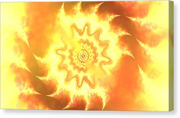 Heart Of Fire Canvas Print by Alex Porter