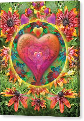 Heart Of Flowers Canvas Print by Alixandra Mullins