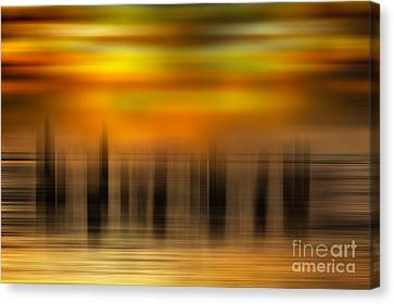 Heart Of Gold - A Tranquil Moments Landscape Canvas Print by Dan Carmichael