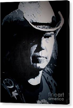 Neil Young Canvas Print - Heart Of Gold by ID Goodall