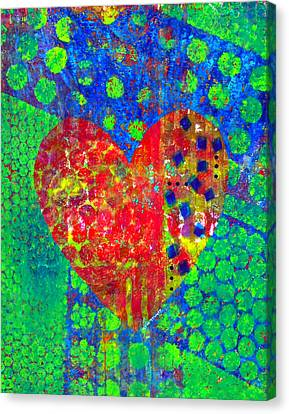 Heart Of Hearts Series - Cheers Canvas Print by Moon Stumpp