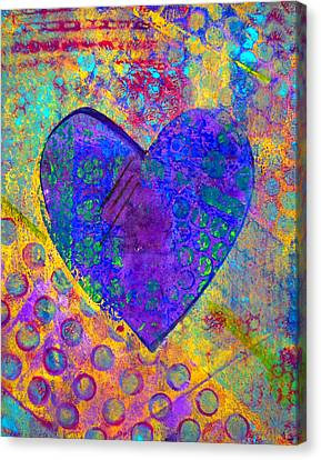Heart Of Hearts Series - Compassion Canvas Print by Moon Stumpp