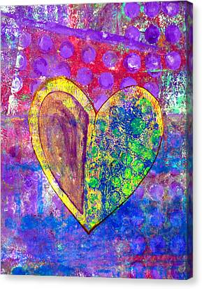 Heart Of Hearts Series - Discovery Canvas Print by Moon Stumpp