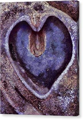 Heart Of Stone Canvas Print by Gun Legler