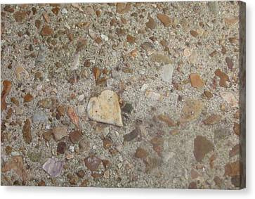 Canvas Print featuring the photograph Heart Of Stone by Fortunate Findings Shirley Dickerson