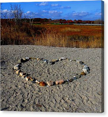 Heart Of Stone Canvas Print by Stephen Melcher