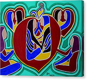 Heart Of The Ages Canvas Print by Barbara St Jean
