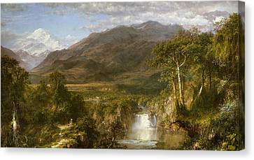Andes Canvas Print - Heart Of The Andes by Frederic Edwin Church