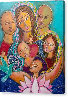 Heart Of The Family Canvas Print by Havi Mandell