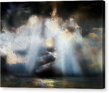 Abstract Seascape Canvas Print - Heart Of The Storm - Abstract Realism by Georgiana Romanovna