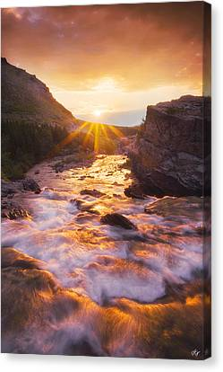 Heart Of The Sunrise Canvas Print