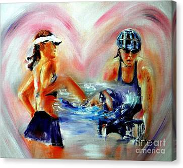 Endurance Canvas Print - Heart Of The Triathlete by Sandy Ryan