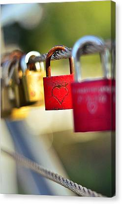 Heart On The Padlock Canvas Print by Gynt