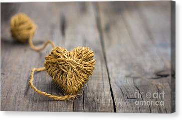 Heart Out Of String Canvas Print