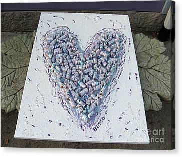 Heart Painting Canvas Print by Marlene Rose Besso