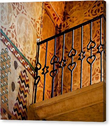Heart Railing Canvas Print by Art Block Collections