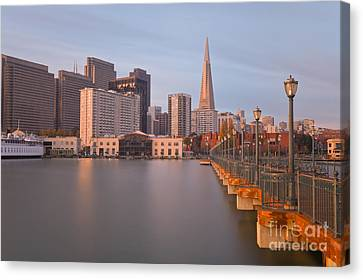 Canvas Print featuring the photograph Heart San Francisco by Jonathan Nguyen
