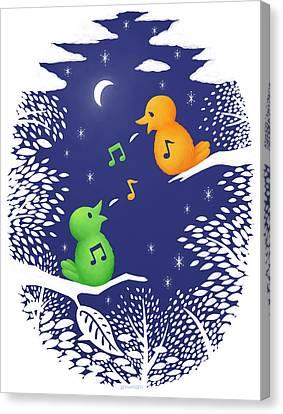 Canvas Print featuring the digital art Heart Song by Ben Hartnett