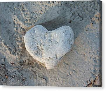 Heart Stone Photography Canvas Print by Rachel Stribbling