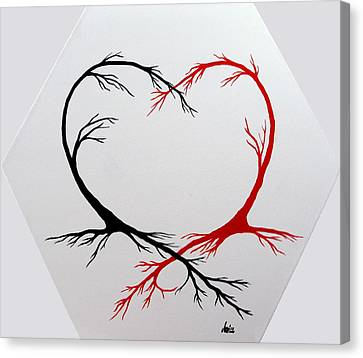 Heart Trees - Arteries Of Love Canvas Print by Marianna Mills