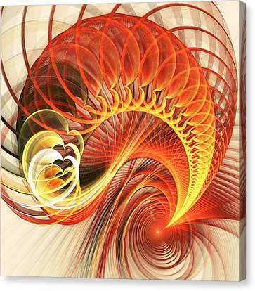 Heart Wave Canvas Print by Anastasiya Malakhova