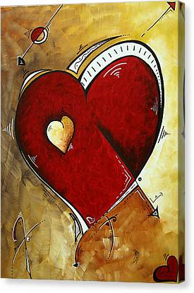 Heartbeat By Madart Canvas Print by Megan Duncanson