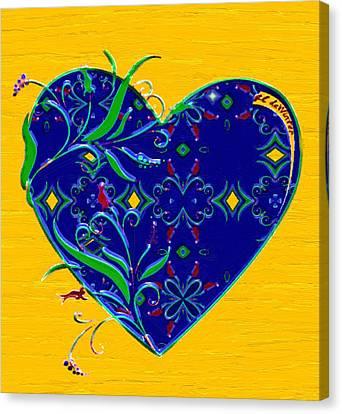Heartbloom Canvas Print by RC deWinter