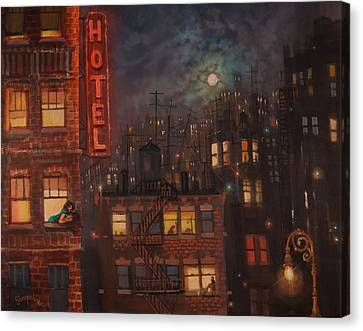 Heartbreak Hotel Canvas Print by Tom Shropshire
