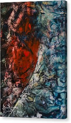 Canvas Print featuring the painting Heartfelt by Ron Richard Baviello