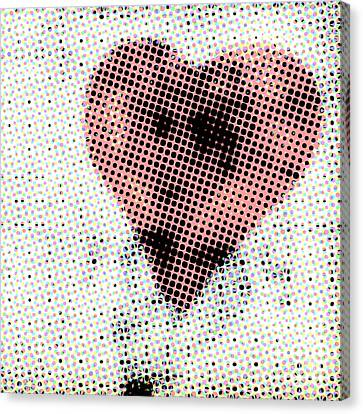 Hearts 21 Square Canvas Print by Edward Fielding