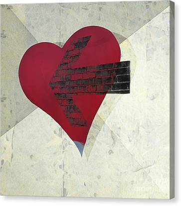 Hearts 7 Square Canvas Print by Edward Fielding