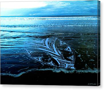 Canvas Print featuring the photograph Hearts Across Oceans by Amanda Holmes Tzafrir