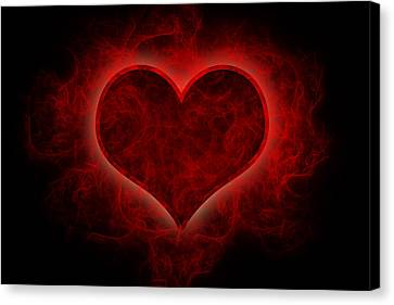 Heart's Afire Canvas Print by Beverly Stapleton