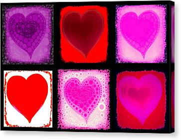 Hearts Canvas Print by Cindy Edwards