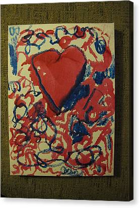 Canvas Print featuring the painting Hearts Entwined by Lawrence Christopher
