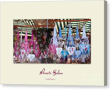 Canvas Print featuring the photograph Hearts Galore by Linda Prewer