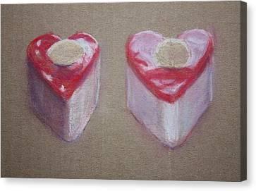Hearts Is Hearts Canvas Print by Sarah Vandenbusch